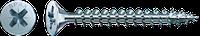 Саморізи Spax, Шліц Pz,повна різьба, оцинкований, срібний