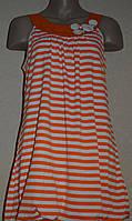 Платье-туника в оранжево-белую полоску. Англия