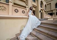 """Роскошное свадебное платье силуэта """"Русалка"""", вышитое бисером, камнем и жемчугом"""