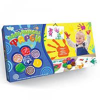 """Пальчиковые краски """"Моя перша творчість"""" 4 цвета Danko Toys"""