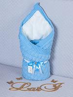 """Демисезонный конверт-одеяло """"Лапушка"""", голубой, фото 1"""