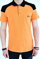 Мужское поло оранжевое Hugo boss