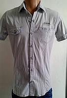 Рубашка мужская белая полоска р.46(м)