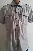 Рубашка мужская светло серая молодежная (l/xl) 48