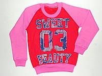 """Реглан """"Sweet beauty"""" для девочек 8,9,10,11,12 лет 100% коттоS"""