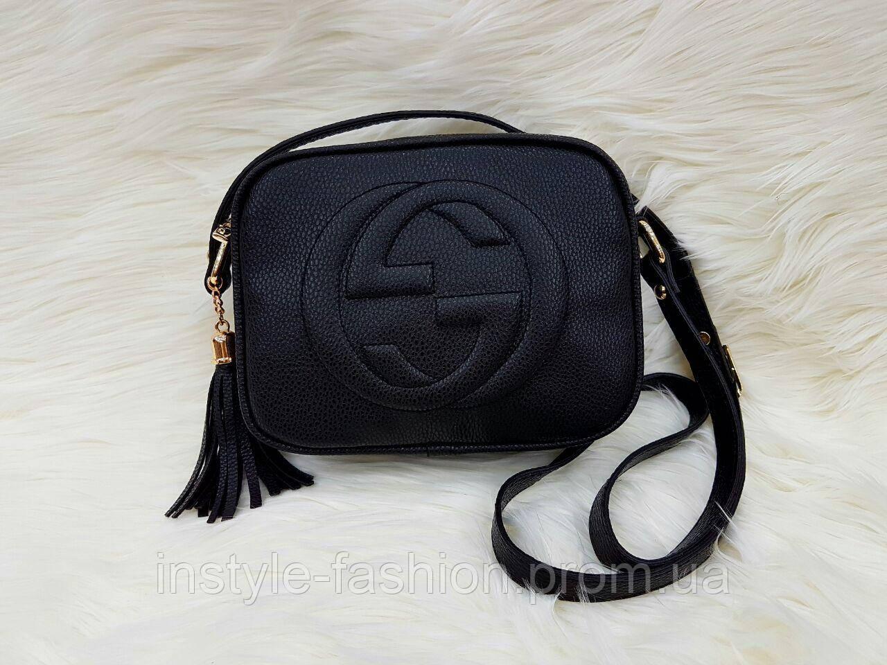 Сумка клатч через плечо Gucci Гуччи черная - Сумки брендовые, кошельки, очки,  женская 68ac698ed43