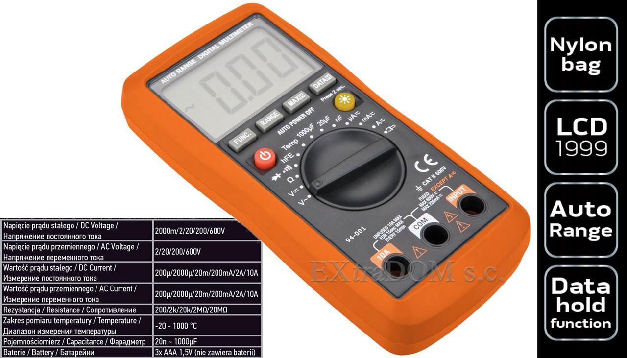 Мультиметр цифровий NEO Tools 94-001