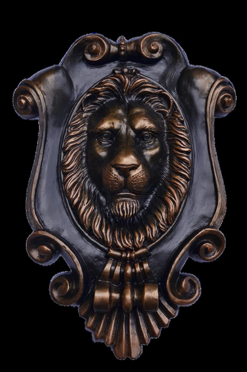 Настенный декор - картуш с головой льва