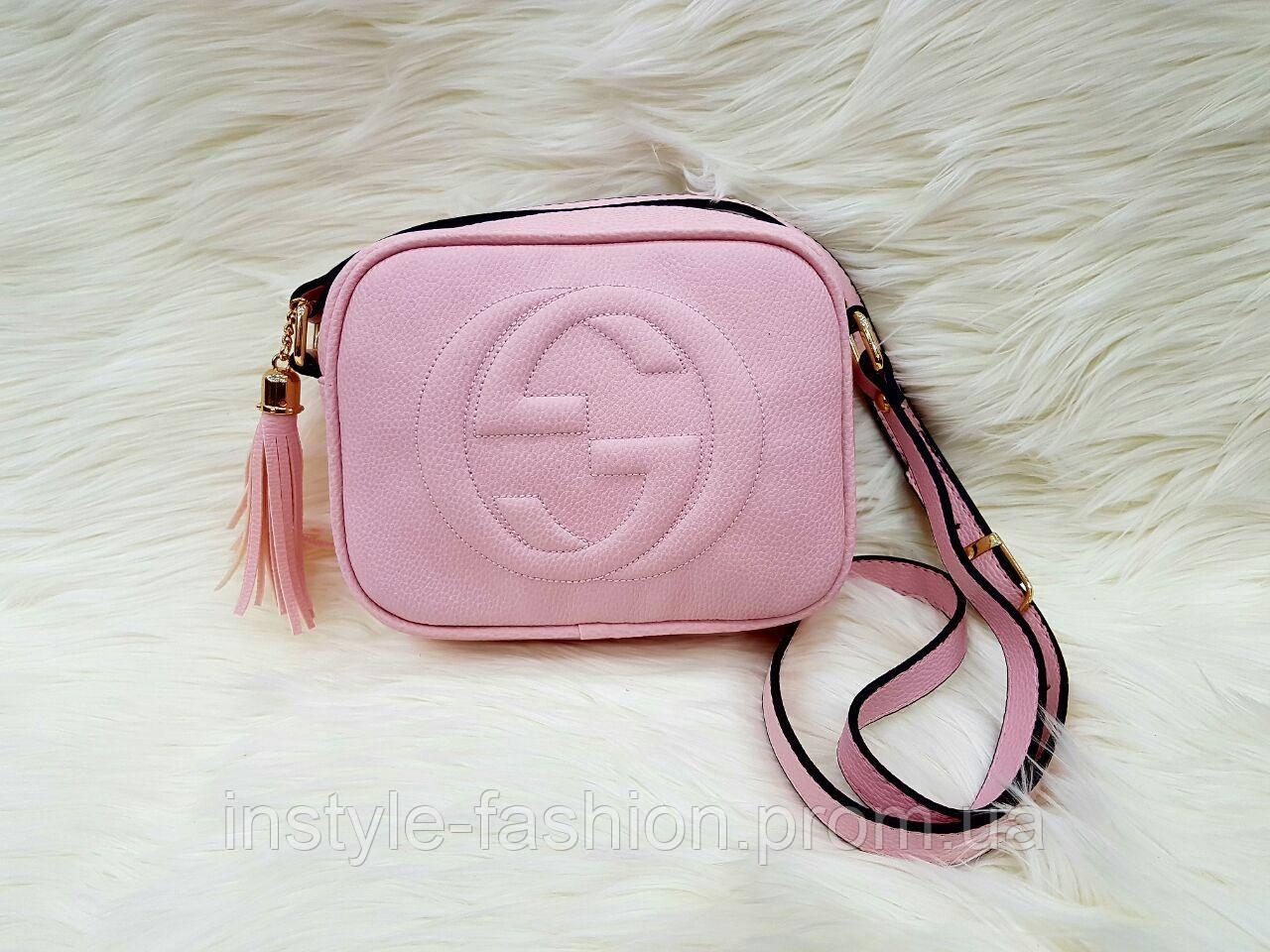 Сумка клатч через плечо Gucci Гуччи розовая - Сумки брендовые, кошельки,  очки, женская adee6ef3dfe