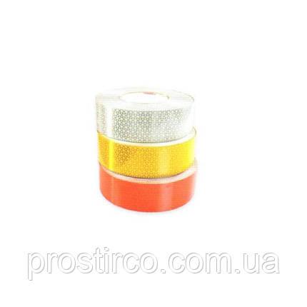 Светоотражающая непрерывная лента на тенты 67.01.01 (белая), фото 2