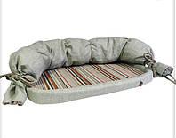 Лежак Природа Прованс, вельвет и лен, 60х53х18 см