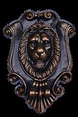 Декор на ворота - картуш с головой льва
