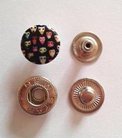 Кнопка АЛЬФА - 15 мм эмаль с рисунком № 1