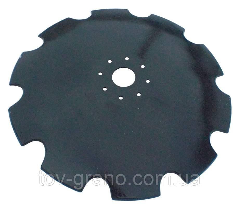 Диск бороны АГ,АГД,УДА 650 мм, круг 62, толщина 6мм, сталь 65Г