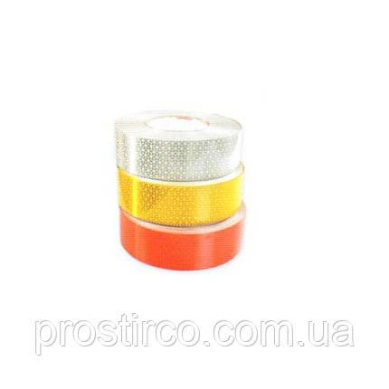 Светоотражающая непрерывная лента для твердой поверхности 67.03.02 (желтая), фото 2
