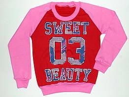 """Детский реглан для девочек """"Sweet"""" 8 лет рост от 116 до 122 см 100%хлопок"""