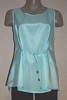 Красивая бирюзовая блуза на завязках. Англия