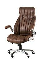 Кресло Conor dark brown, темно-коричневое, офисное, компьютерное