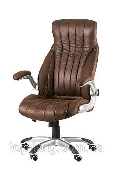 Крісло Conor dark brown, темно-коричневе, офісне, комп'ютерне