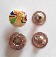 Кнопка АЛЬФА - 15 мм эмаль с рисунком № 3