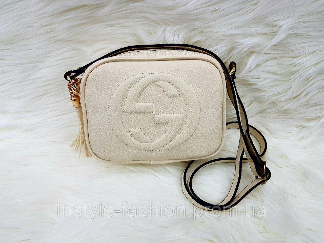 Сумка клатч через плечо Gucci Гуччи белая - Сумки брендовые, кошельки, очки,  женская 157bae07284