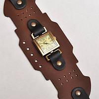 Классические часы с ремешком из натуральной кожи «Тесла»