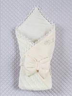 """Детский демисезонный конверт-одеяло """"Дуэт"""", кремовый, фото 1"""