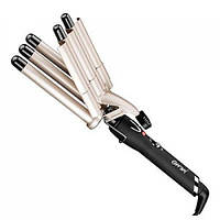 Плойка-щипцы для волос GM 2933, 5 волн, регуляция температуры, вращающийся шнур, керамопокрытие