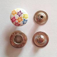 Кнопка АЛЬФА - 15 мм эмаль с рисунком № 10