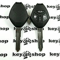 Корпус авто ключа для Mitsubishi Galant (Мицубиси Галант) 3 - кнопки, лезвие MIT11R
