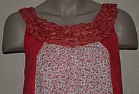 Летнее красное платье в цветочный принт. Англия