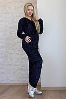 """Бархатный женский спортивный костюм """"Muare"""" с капюшоном (2 цвета)"""