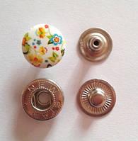 Кнопка АЛЬФА - 15 мм эмаль с рисунком № 11