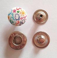 Кнопка АЛЬФА - 15 мм эмаль с рисунком № 13