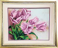 """Набор для вышивания бисером """"Розовые тюльпаны"""""""