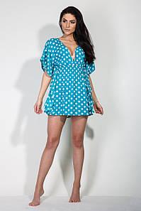Туника реплика Victoria's Secret горох голубой