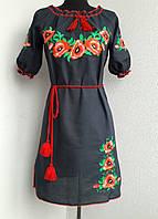Платье вышитое короткий рукав