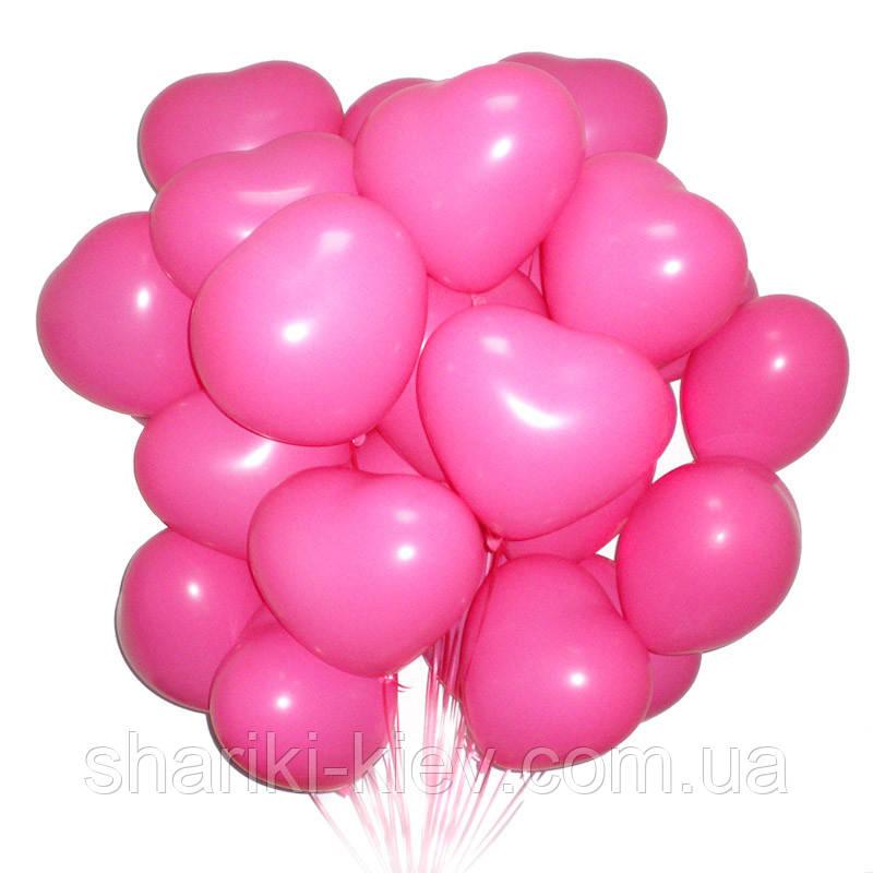Связка из 20-ти шаров сердец на День Рождения