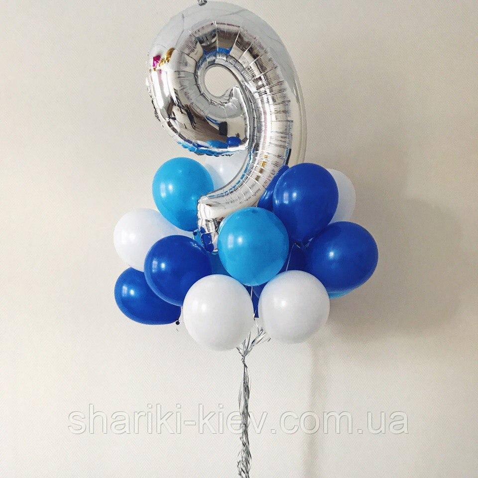 Связка из 15-ти шаров на День Рождения