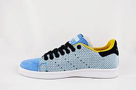 Stan Smith Adidas Original Blue кроссовки женские подростковые голубые/синие Стэн Смит Оригинал
