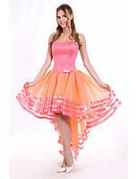 Нежное нарядное платье с ассиметричной юбкой