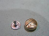 Хольнитен 9 мм золотого цвета 100 штук нержавейка