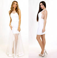 Свадебное платье со съемной юбкой P0607 (р.42-46)