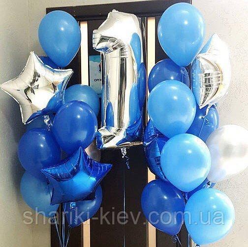 Набір Фонтани з 10-ти гелевих кульок з цифрою