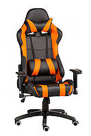 Кресло ExtremeRace black/orange, черно-оранжевое, компьютерное, геймерское