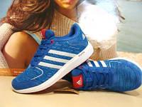 Кроссовки женские Adidas Bounce (адидас) синие 36 р.