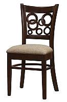 Стул Максвелл, деревянный стул с мягким сиденьем панама микс, каркас венге