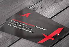 Дизайн одной стороны визиток для специалистов по разработке сайтов