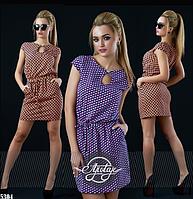 Шелковое платье короткое с вырезом капля