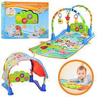 Коврик с игрушками для младенцев 0837 NL: 106х59 см, трансформер, музыка, свет